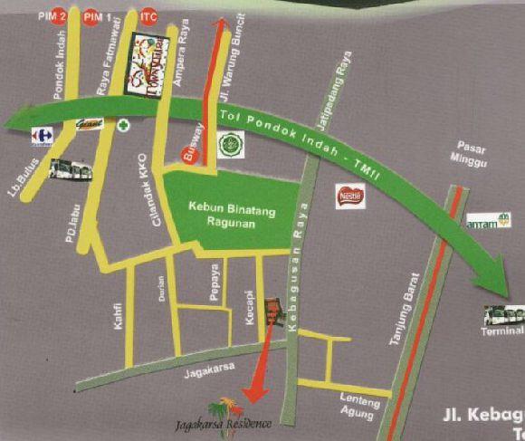 Lokasi Jagakarsa Residence. Jl Kebagusan Raya 24