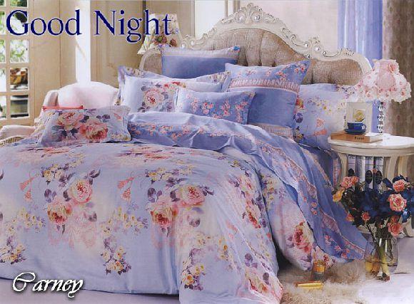 COTTON SATEEN COLLECTION Good Night Cotton Sateen Collection terbuat dari bahan 100% cotton sateen yang sangat halus, lembut, berkilau dan tahan lama. Desain terlihat indah dan cemerlang, memberikan nuansa baru dalam kamar tidur Anda.