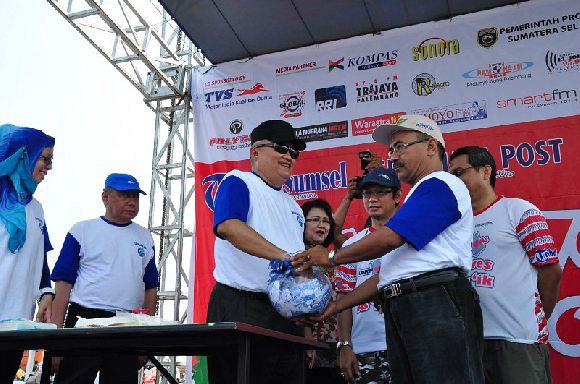 Pengundian Event Sepeda Santai Palembang Jakabaring