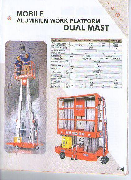 PT. Denko Wahana Sakti adalah Importir Alumunium Work Platform, ketinggian bisa mencapai 16 Meter, alat ini berfungsi, untuk perbaikan Lampu, Pemasangan Plafon, maintenance untuk di tempat2 yang perlu jankauan tinggi, harga bersaing, bergaransi, kami juga melayani Service & Spare Part